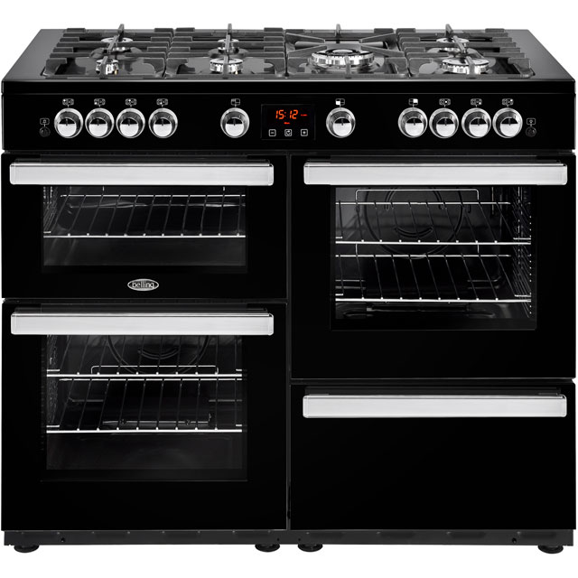 Belling Cookcentre110G 110cm Gas Range Cooker - Black - A/A Rated - Cookcentre110G_BK - 1