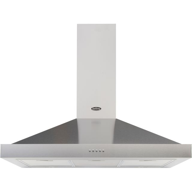 Belling COOKCENTRE 90 CHIM 90 cm Chimney Cooker Hood - Stainless Steel - D Rated - COOKCENTRE 90 CHIM_SS - 1