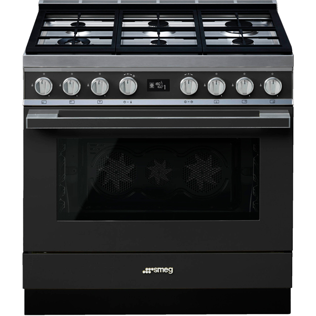 Smeg Portofino 90cm Dual Fuel Range Cooker - Anthracite - A+ Rated