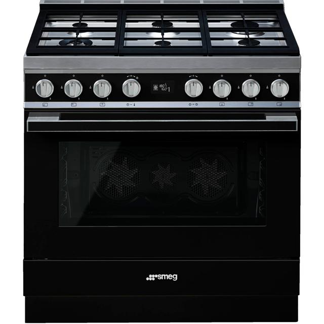 Smeg Portofino Free Standing Range Cooker in Black