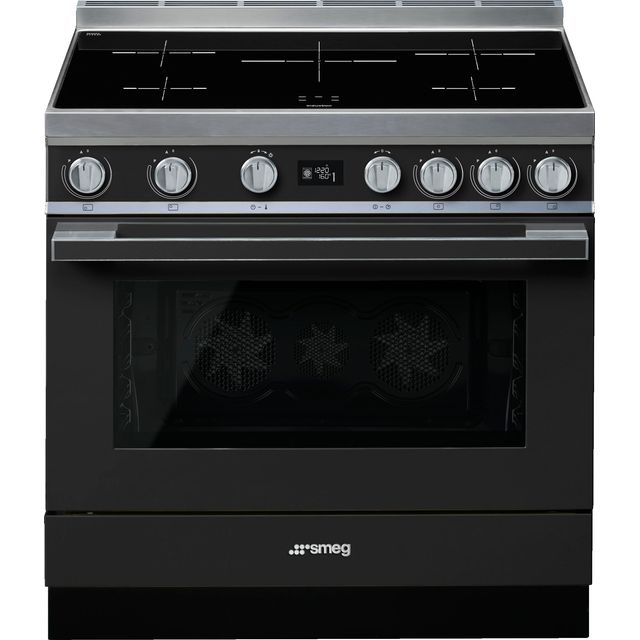Smeg Portofino CPF9iPAN 90cm Electric Range Cooker with Induction Hob - Anthracite - A+ Rated
