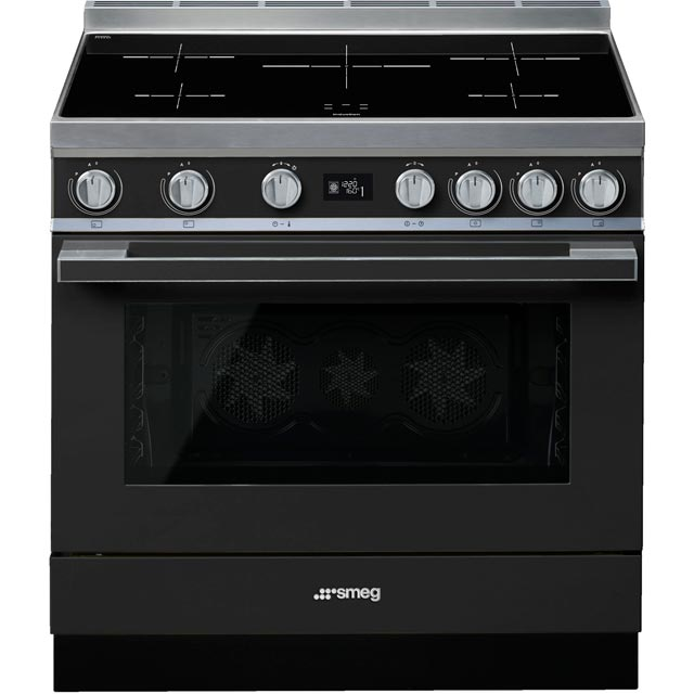 Smeg Portofino 90cm Electric Range Cooker with Induction Hob - Anthracite - A+ Rated