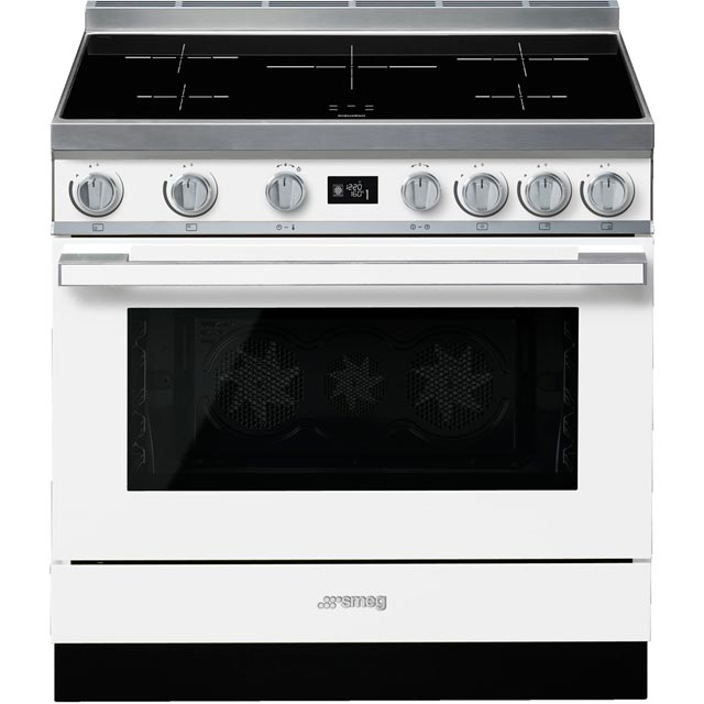 Smeg Portofino CPF9iPWH 90cm Electric Range Cooker with Induction Hob - White - A+ Rated - CPF9iPWH_WH - 1