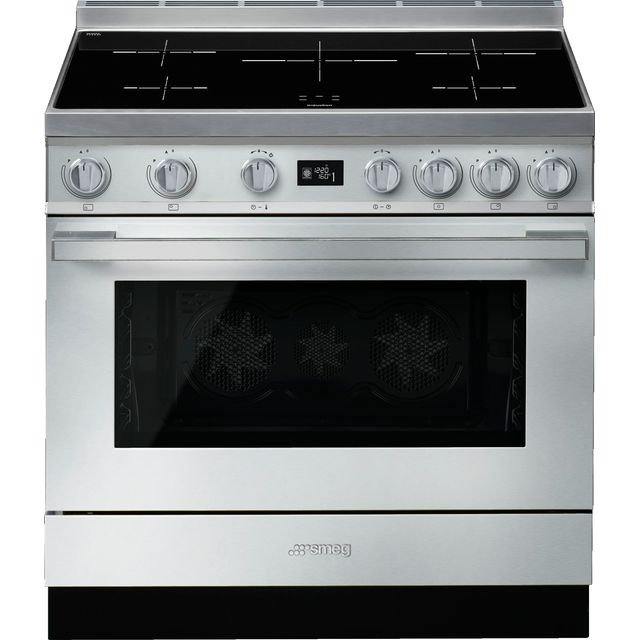 Smeg Portofino CPF9iPX 90cm Electric Range Cooker with Induction Hob - Stainless Steel - A+ Rated