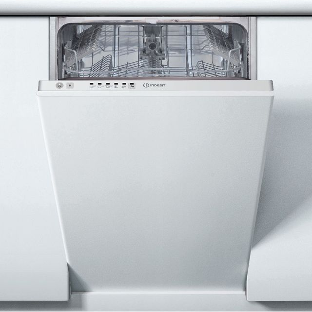Indesit DSIE2B10UKN Fully Integrated Slimline Dishwasher - White Control Panel - F Rated