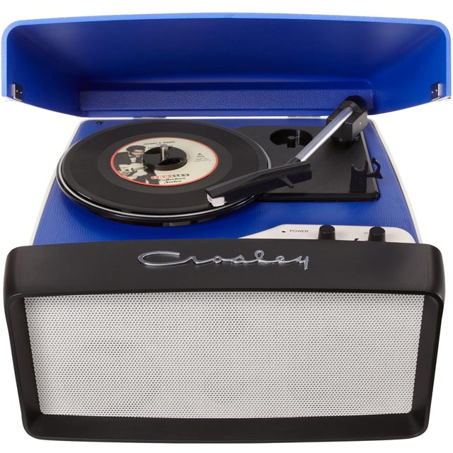 Crosley Collegiate CR6010A-BL Record Turntable with USB - Blue