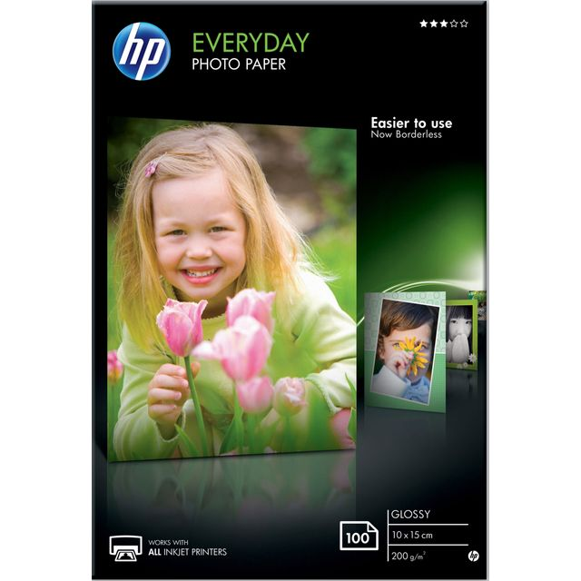 HP Everyday Glossy Photo Paper-100 sht/10 x 15 cm - CR757A - 1