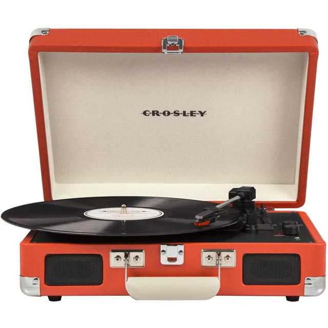 Crosley Cruiser Deluxe CR8005DORG Record Turntable with Bluetooth with Bluetooth - Orange