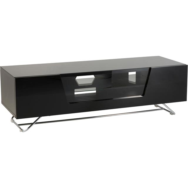 Image of Alphason Chronium CRO2-1200CB-BLK 2 Shelf TV Stand - Black