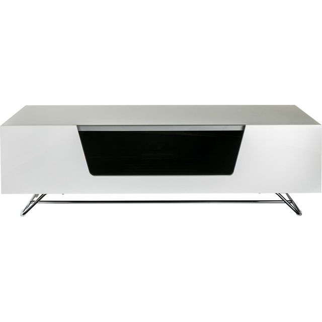 Alphason Chronium CRO2-1200CB-WHT 2 Shelf TV Stand - White - CRO2-1200CB-WHT - 1
