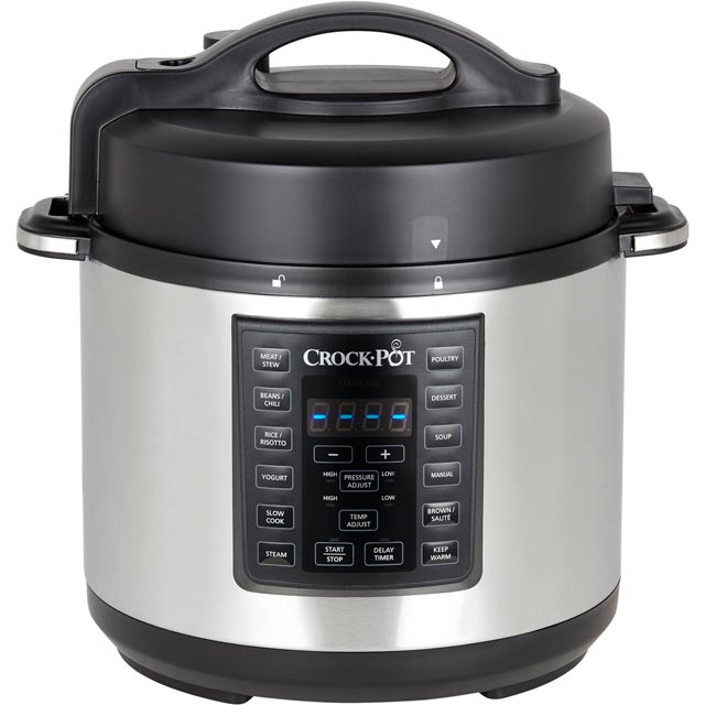 Image of Crockpot Express Pressure CSC051 5.6 Litre Multi Cooker - Brushed Stainless Steel