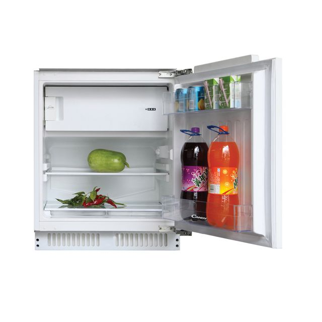 Candy CRU164NEK Integrated Under Counter Fridge with Ice Box - Fixed Door Fixing Kit - White - A+ Rated - CRU164NEK_WH - 1