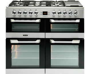 Leisure Cuisinemaster CS100F520X 100cm Dual Fuel Range Cooker - Stainless Steel - A Rated - CS100F520X_SS - 1