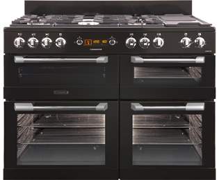 Leisure CS110F722K Cuisinemaster 110cm Dual Fuel Range Cooker - Black - CS110F722K_BK - 1
