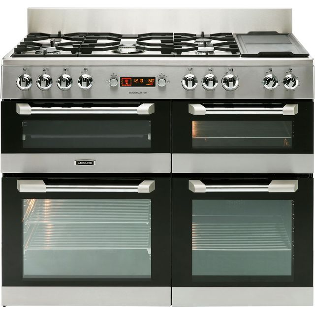 Leisure Cuisinemaster 110cm Dual Fuel Range Cooker - Stainless Steel - A/A Rated