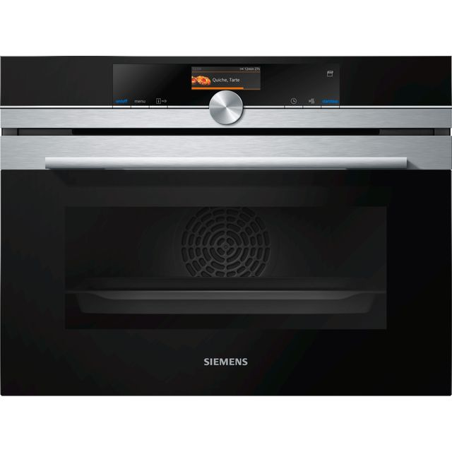Siemens IQ-700 CS656GBS7B Wifi Connected Built In Compact Electric Single Oven with added Steam Function - Stainless Steel - A+ Rated - CS656GBS7B_SS - 1