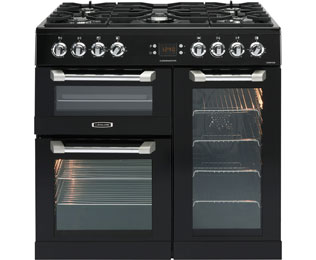 Leisure Cuisinemaster CS90F530K 90cm Dual Fuel Range Cooker - Black - A/A/A Rated - CS90F530K_BK - 1