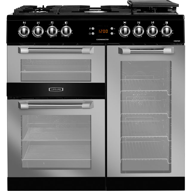 Leisure CS90FMIRK 90cm Dual Fuel Range Cooker - Black