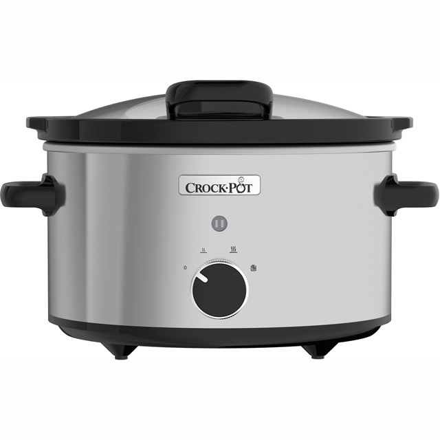 Crockpot CSC044 3.5 Litre Slow Cooker - Stainless Steel