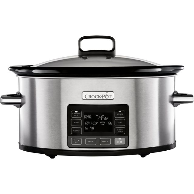 Image of Crockpot TimeSelect CSC066 5.6 Litre Slow Cooker - Brushed Stainless Steel
