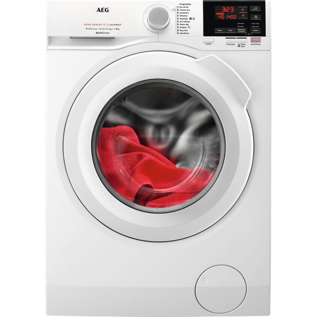 AEG ProSense Technology L6FBG841CA Wifi Connected 8Kg Washing Machine with 1400 rpm - White - C Rated