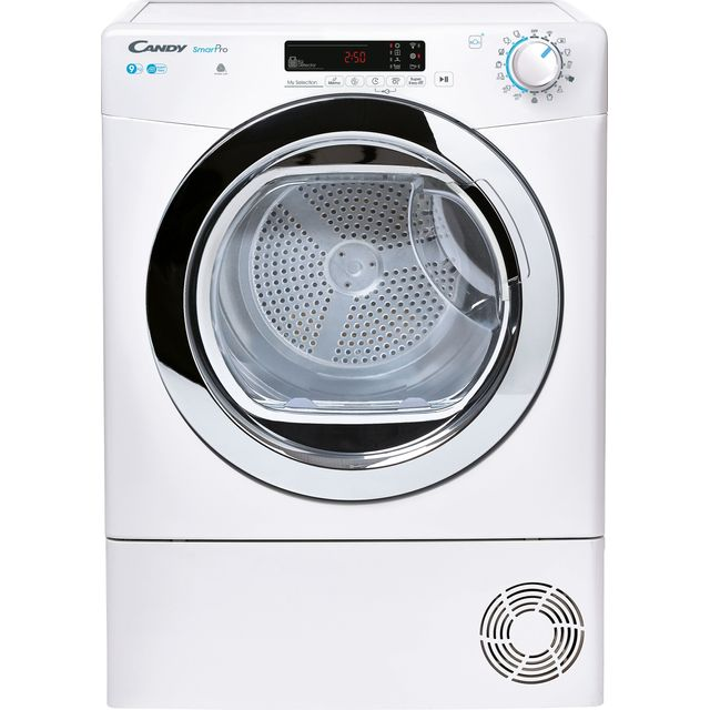 Candy CSOEC9DCG Wifi Connected 9Kg Condenser Tumble Dryer - White - B Rated
