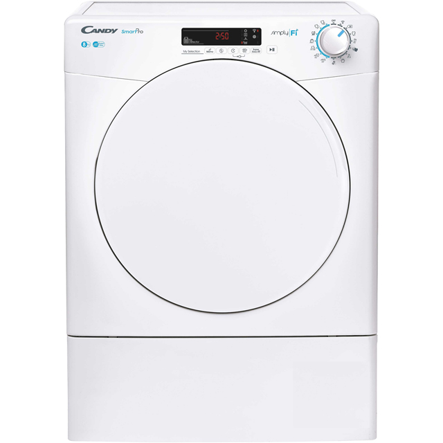 Candy Smart Pro CSOV8DF 8Kg Vented Tumble Dryer - White - C Rated - CSOV8DF_WH - 1