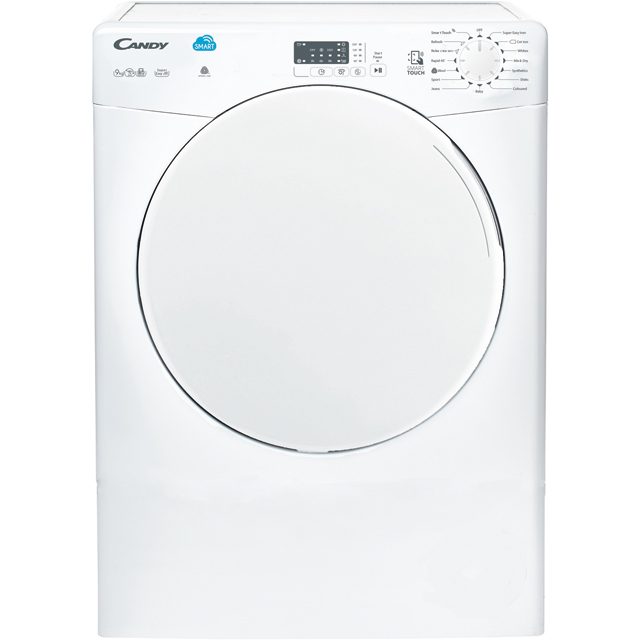 Candy CSV9LF 9Kg Vented Tumble Dryer - White - C Rated - CSV9LF_WH - 1