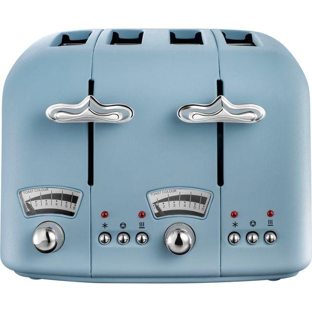DeLonghi Argento Flora CT04.AZ 4 Slice Toaster - Agave Blue