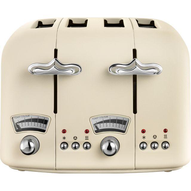 DeLonghi Argento Flora CT04.BG 4 Slice Toaster - Jasmine Beige