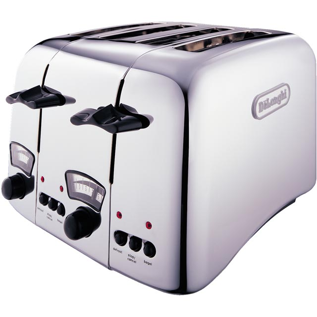 De'Longhi Argento CT04.C 4 Slice Toaster - Chrome - CT04.C_CHR - 1