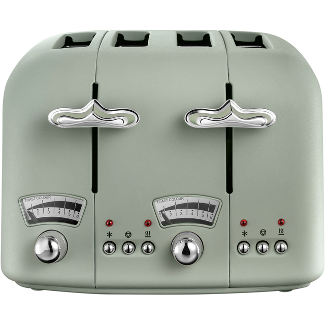 DeLonghi Argento Flora CT04.GR 4 Slice Toaster - Peppermint Green