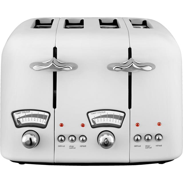 De'Longhi Argento CT04.W 4 Slice Toaster - White - CT04.W_WH - 1