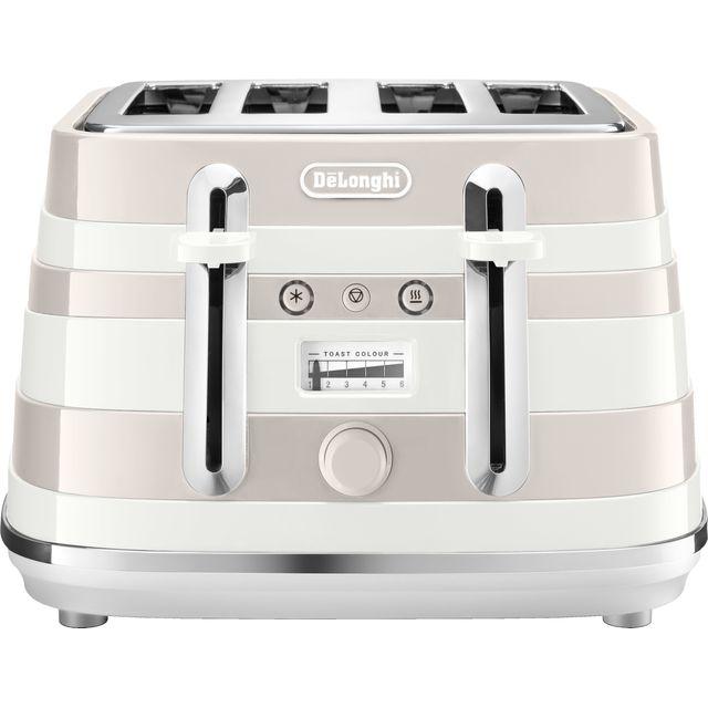 DeLonghi Avvolta CTAC4003W 4 Slice Toaster - White