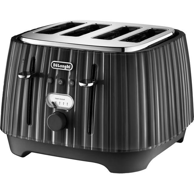 De'Longhi Ballerina CTD4003.BK 4 Slice Toaster - Black