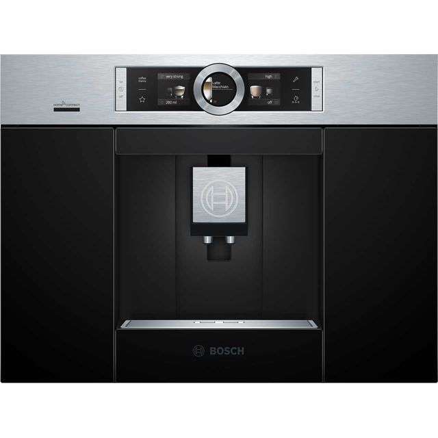 Bosch CTL636ES6 Wifi Connected Built In Bean to Cup Coffee Machine - Stainless Steel