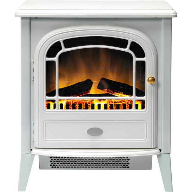 Dimplex Courchevel CVL20E Log Effect Electric Stove With Remote Control - White - CVL20E_WH - 1