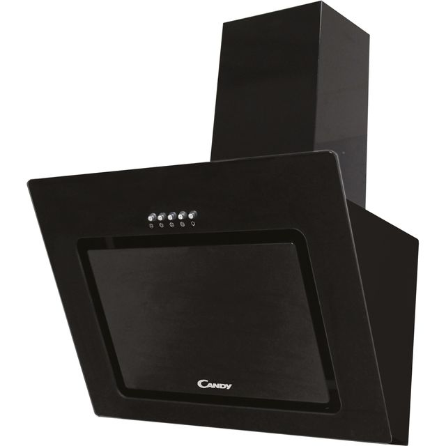 Candy CVMAD60/1N 60 cm Chimney Cooker Hood - Black - C Rated - CVMAD60/1N_BK - 1