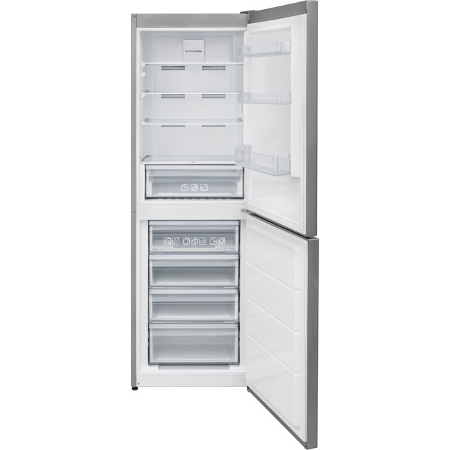 Candy CVNB6182XH5K 50/50 Frost Free Fridge Freezer - Stainless Steel - A+ Rated - CVNB6182XH5K_SS - 1