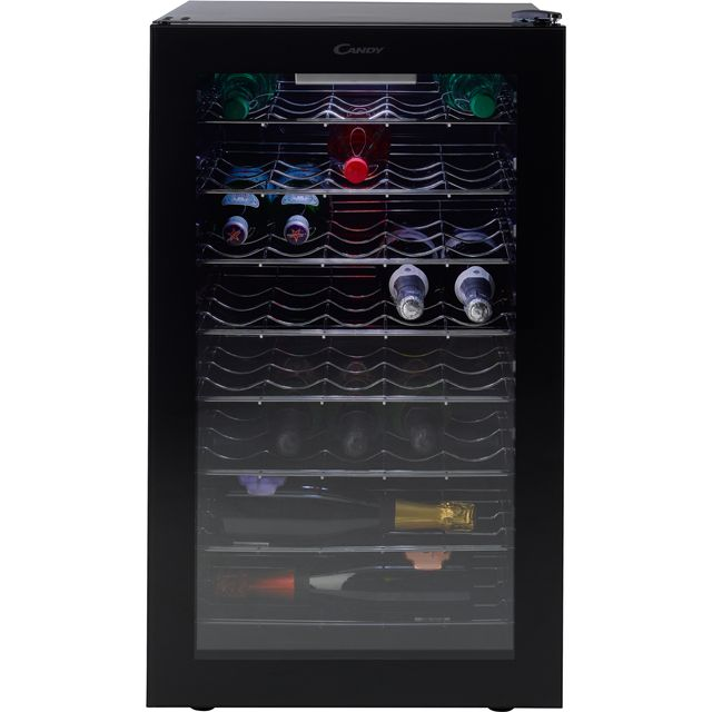 Candy CWC150UK Wine Cooler - Black - B Rated - CWC150UK_BK - 1