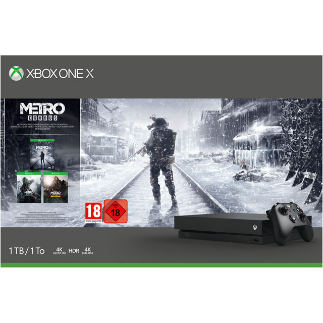 Xbox One X with Metro 2033 Redux, Metro: Last Light Redux, Metro Exodus + 1 Month Live & Game Pass - CYV-00285 - CYV-00285 - 1