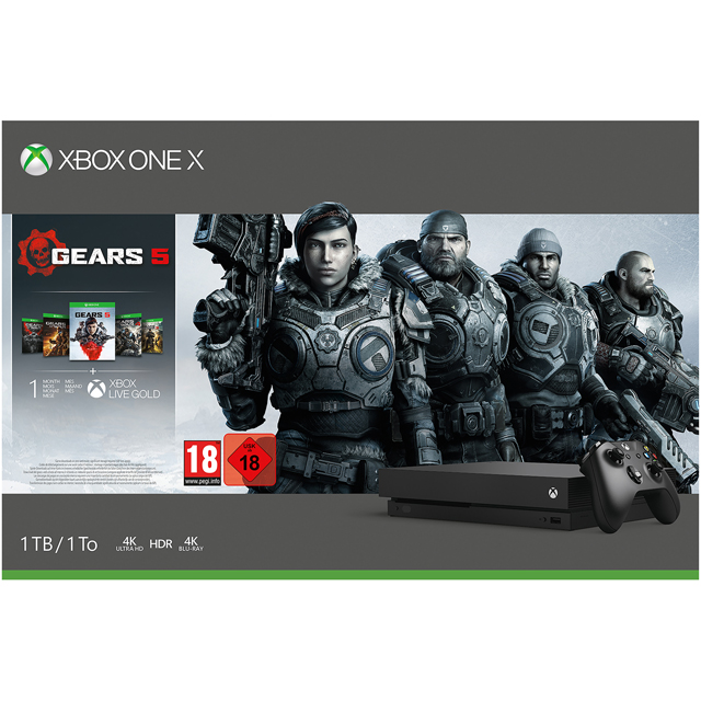 Xbox One X 1TB with Gears 5, 1 Month Game pass and 1 Month Xbox Live Gold - Black - CYV-00327 - 1