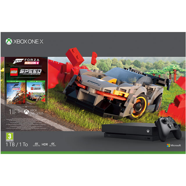 Xbox One X 1TB with Forza Horizon 4 with Lego Speed Champions Add On, 1 Month Game pass and 1 Month Xbox Live Gold - Black - CYV-00465 - 1