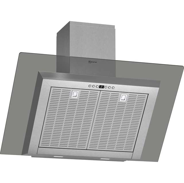 NEFF D39GL64N0B Integrated Cooker Hood in Stainless Steel / Grey Glass