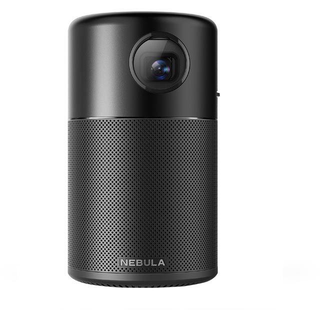 Anker Nebula Projector with 360 Degree Sound HD - Black / Red