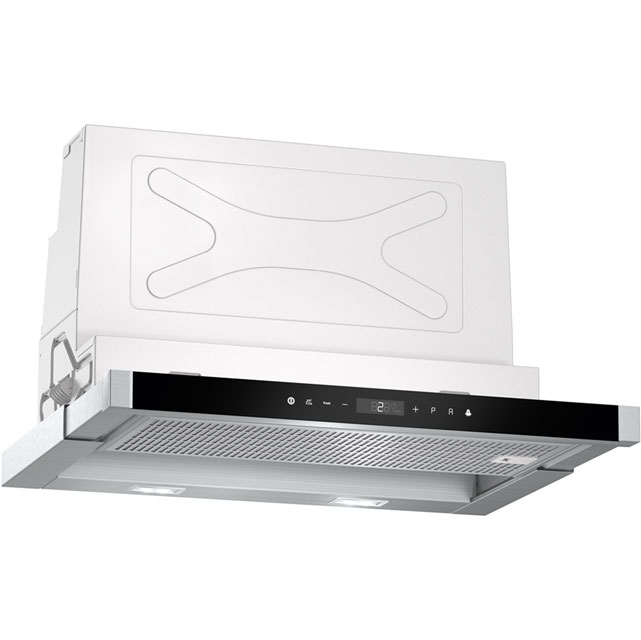 NEFF N90 D46PU54X0B 60 cm Telescopic Cooker Hood - Stainless Steel - A Rated - D46PU54X0B_SS - 1