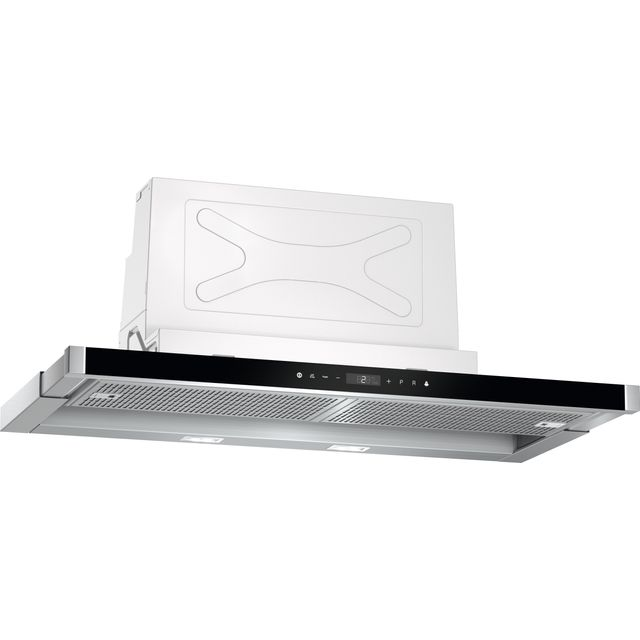 NEFF N90 D49PU54X0B 90 cm Telescopic Cooker Hood - Stainless Steel / Black - A Rated - D49PU54X0B_SS - 1