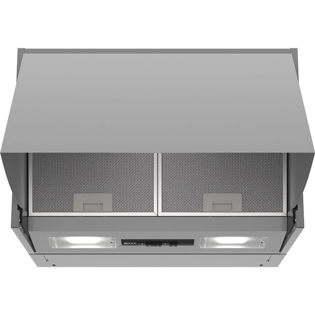 NEFF N30 60 cm Integrated Cooker Hood - Silver - D Rated