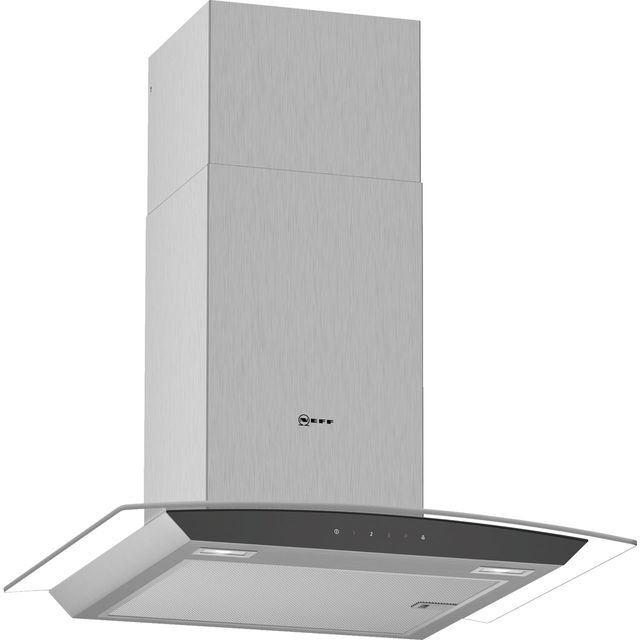 NEFF N50 D64AFM1N0B 60 cm Chimney Cooker Hood - Stainless Steel - A Rated - D64AFM1N0B_SS - 1