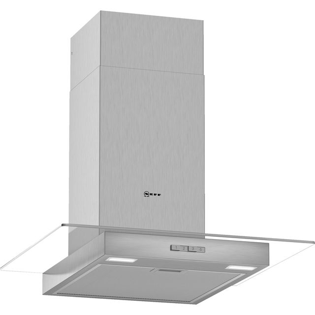 NEFF N30 D64GBC0N0B 60 cm Chimney Cooker Hood - Stainless Steel - A Rated - D64GBC0N0B_SS - 1